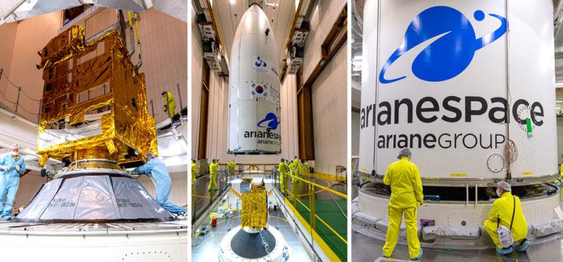 JCSAT-17 et GEO-KOMPSAT-2B embarquent sous la coiffe d'Ariane 5