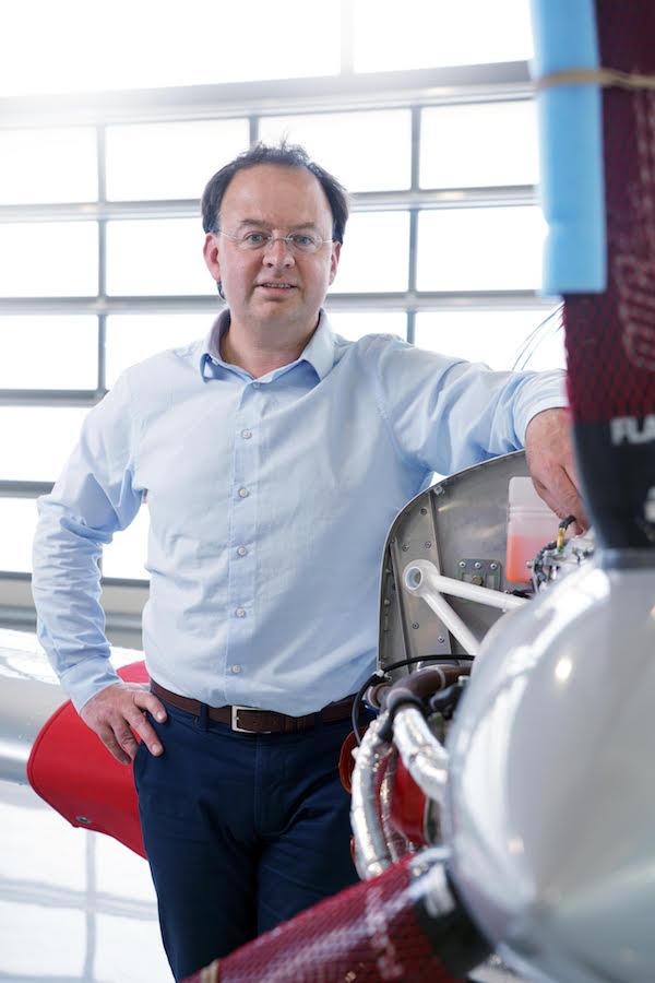 Pierre Van Wetter, Directeur Commercial et co-fondateur de Sonaca Aircraft