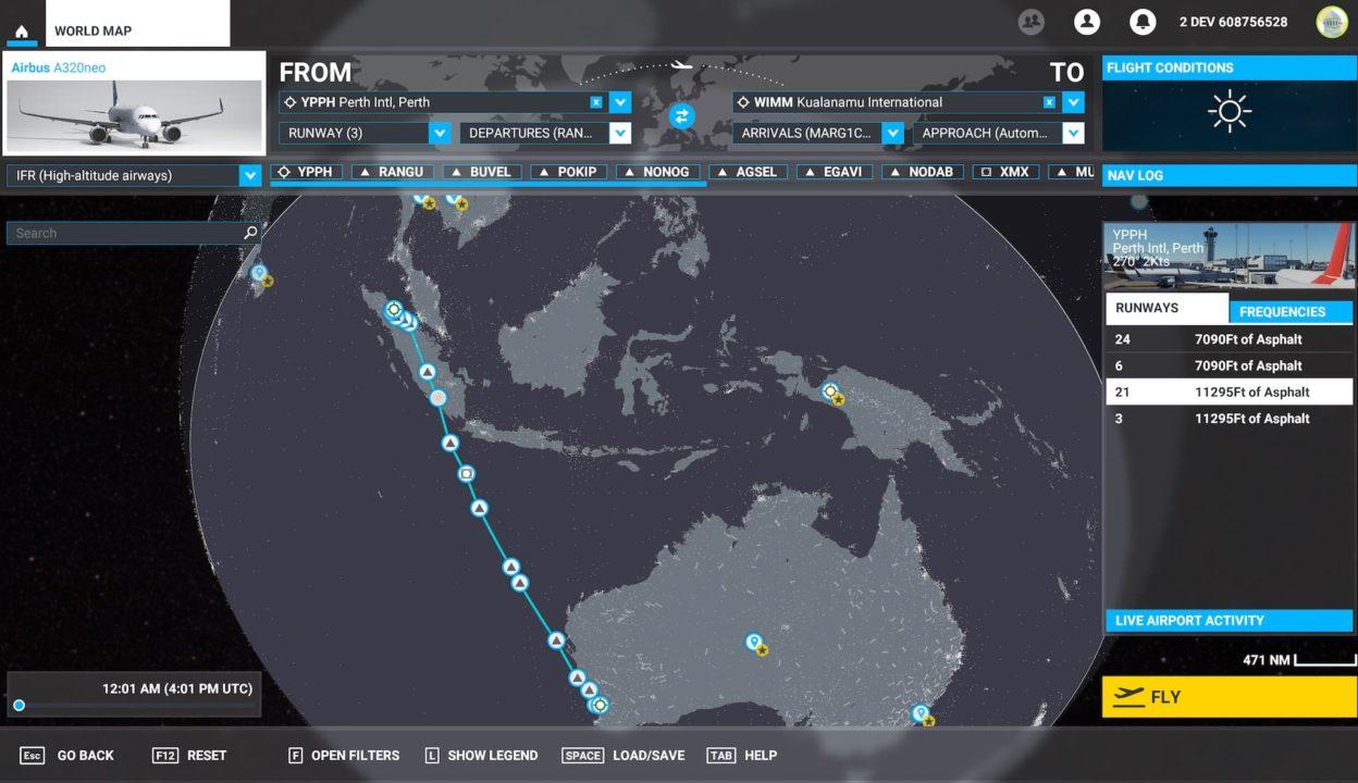 Plan de vol avec Flight Simulator 2020