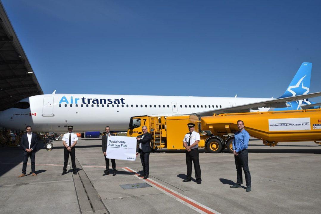 Livraison Air Transat Airbus A321LR à Hambourg