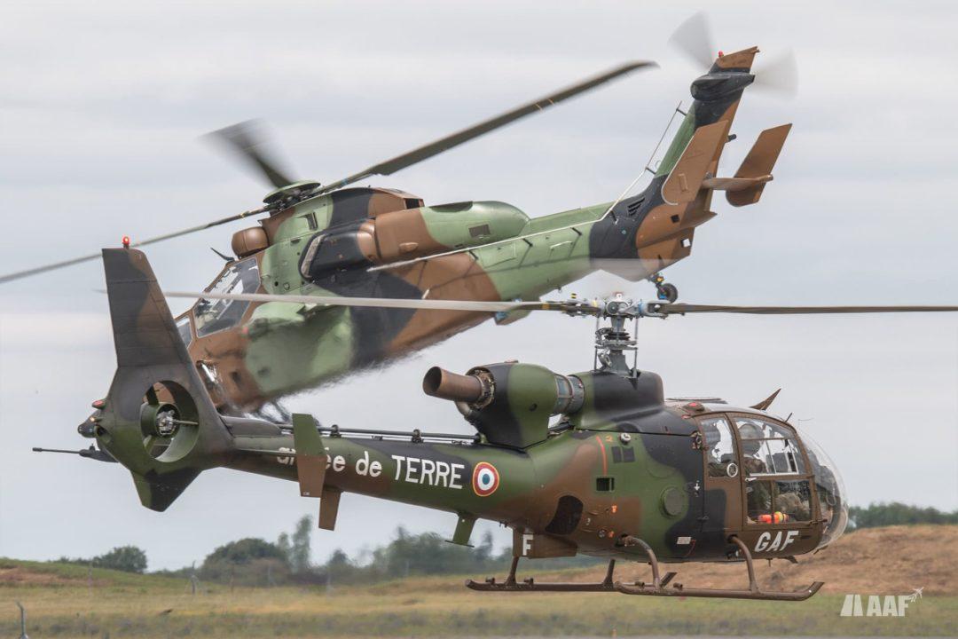 Gazelle et Tigre : deux hélicoptères de l'ALAT (aviation légère de l'armée de terre)