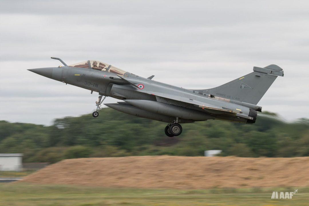 Dassault rafale C de l'EC 3/30 Lorraine à l'atterrissage
