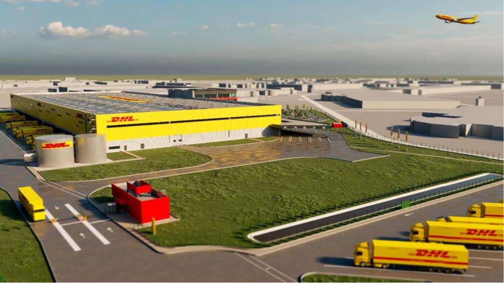 Vue 3D du nouveau site DHL à Paris CDG