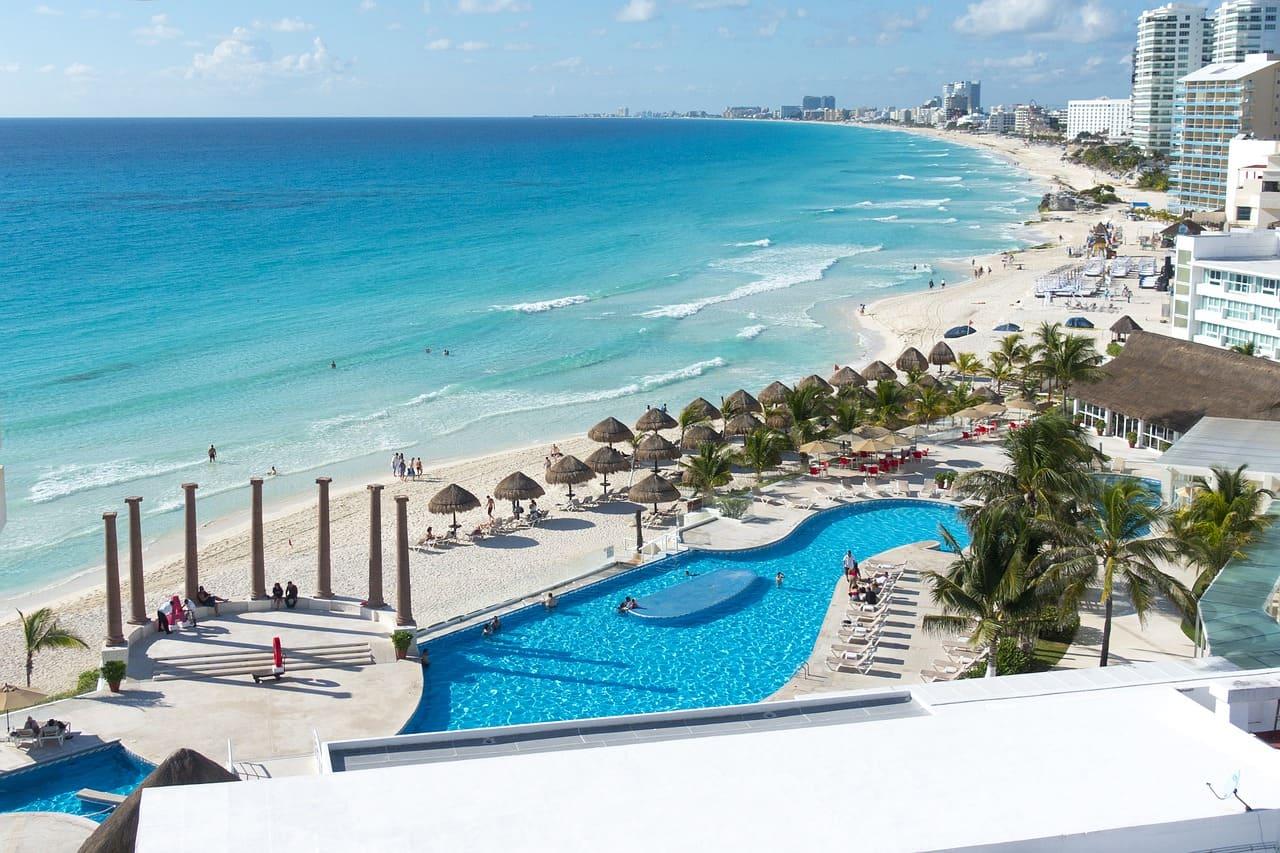 Plage de Cancun, Mexique