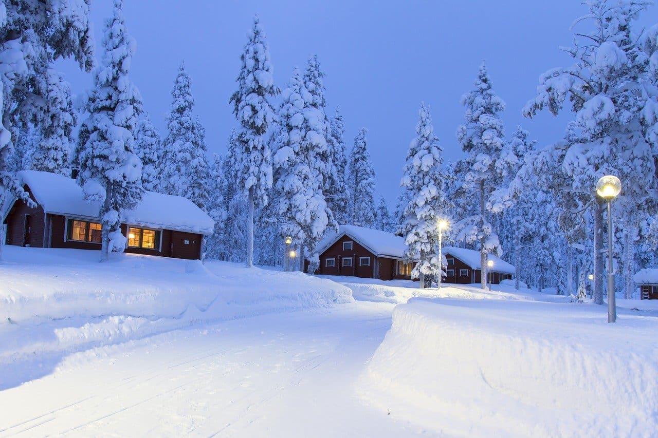 Paysage de Laponie finlandaise