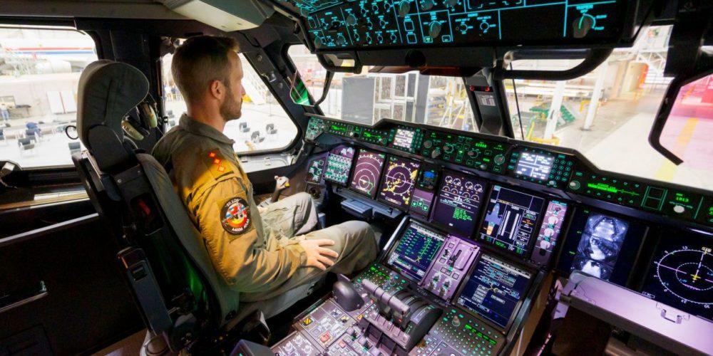 Cockpit de l'A400M de l'Armée luxembourgeoise MSN104