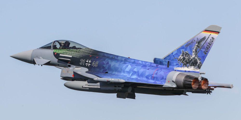 Eurofighter de la Luftwaffe en vol (Armée de l'air allemande)