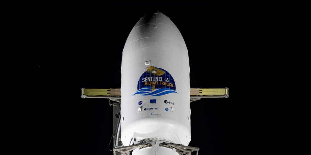 Coiffe du lanceur Falcon9 avec à bord Sentinel-6