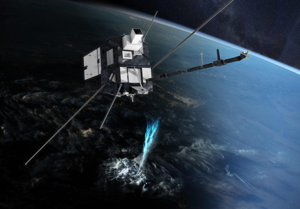 Vue 3D du satellite TARANIS
