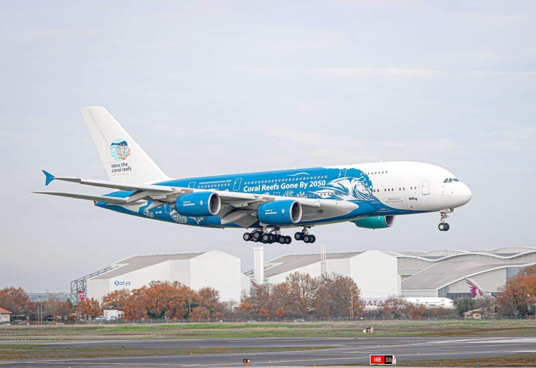 Atterrissage de l'A380 HiFly Malta 9H-MIP à Toulouse le 17/12/2020