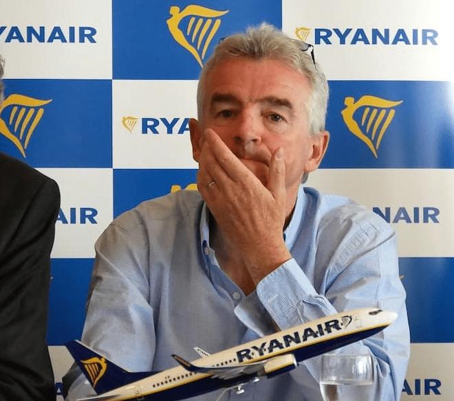 Michael O'Leary PDG Ryanair