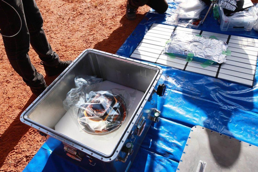 La capsule contenant les précieux échantillons de Ryugu