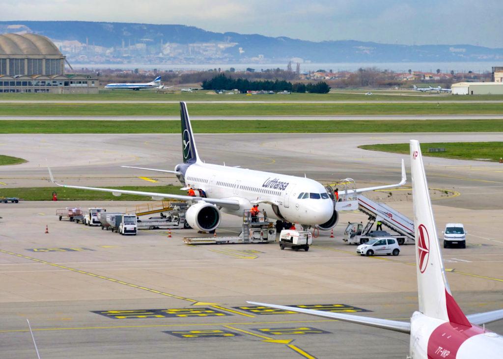 A320neo Lufthansa sur le tarmac de Marseille Provence