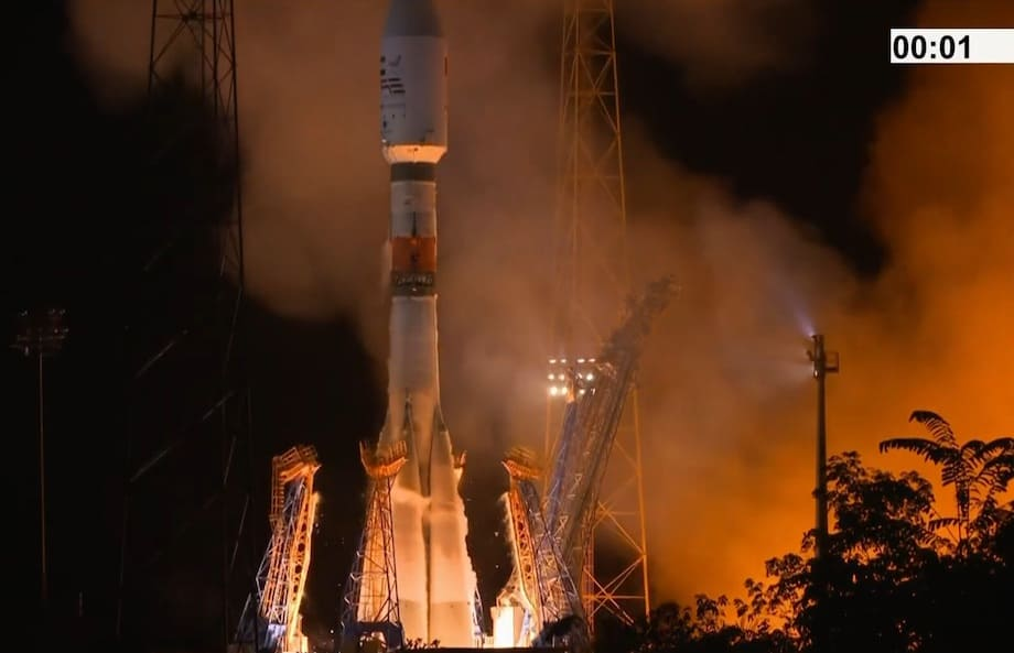 VS24 - mise à feu de Soyuz depuis Kourou