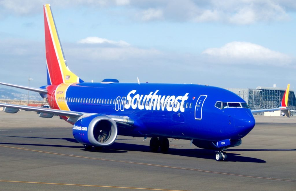 Boeing 737 MAX 8 Southwest