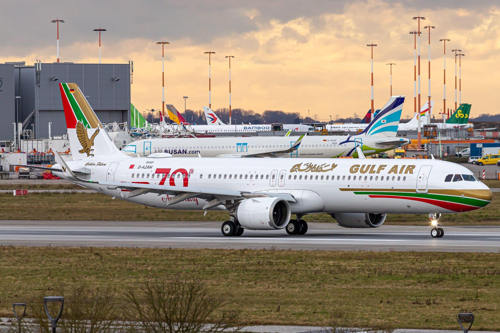 A321-253NX Gulf Air A9C-NB à Hambourg