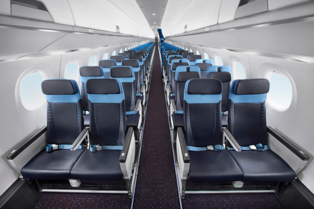 Siège Business E195-E2 KLM Cityhopper