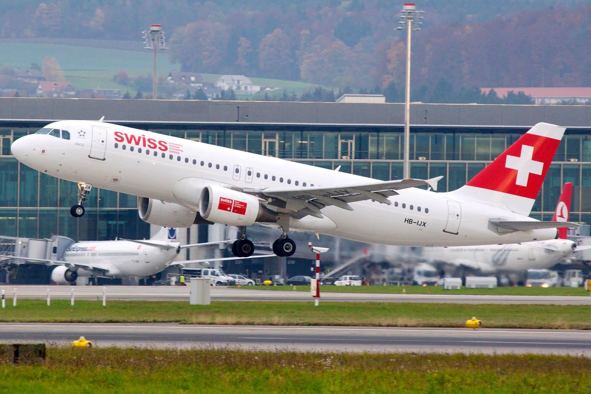 SWISS A320 à Zurich