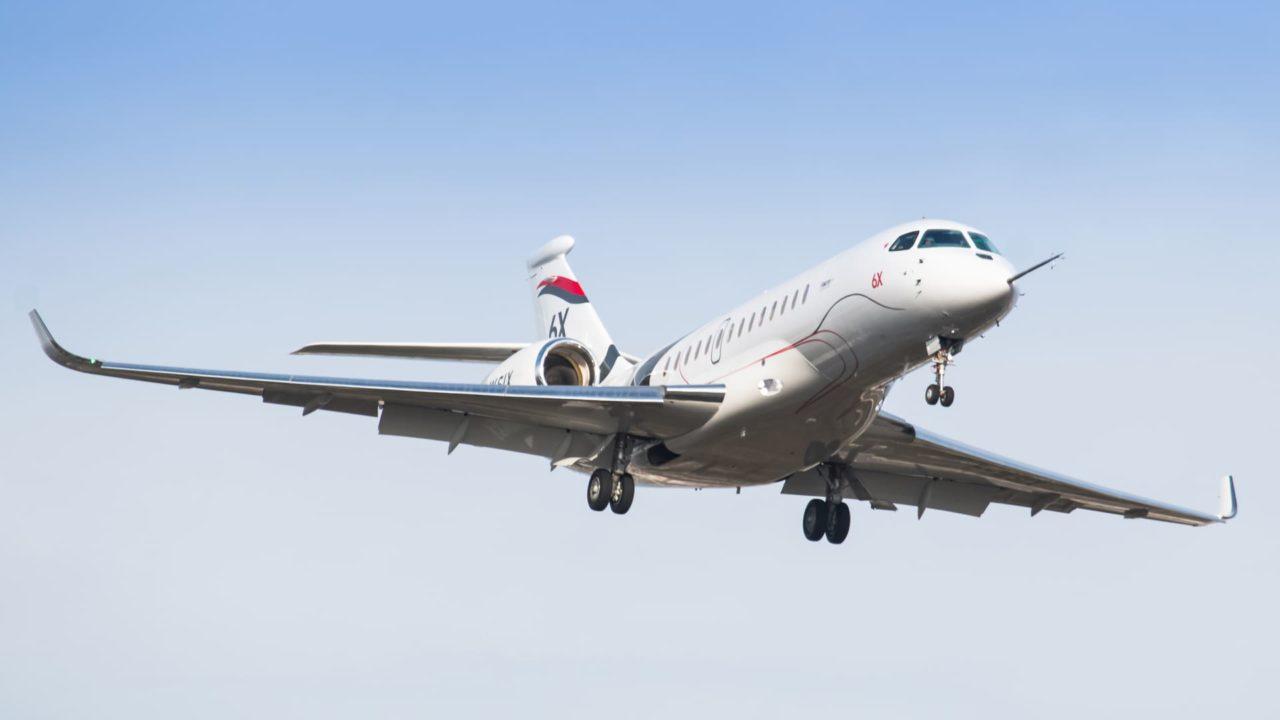 1er vol Falcon 6X arrivée à Bordeaux