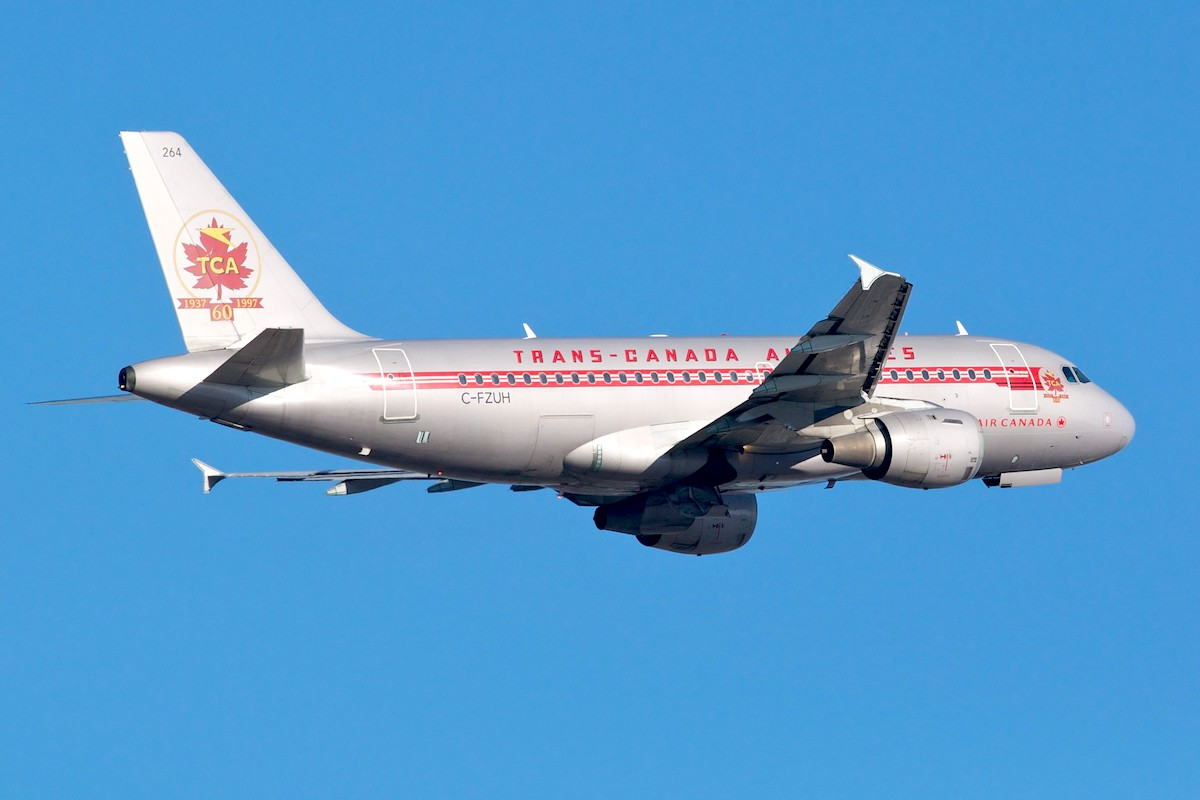 Air Canada A319 (C-FZUH / MSN711) livrée TCA