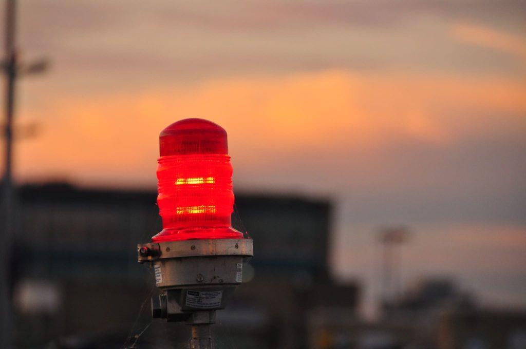 Balise lumineuse de piste (rouge)
