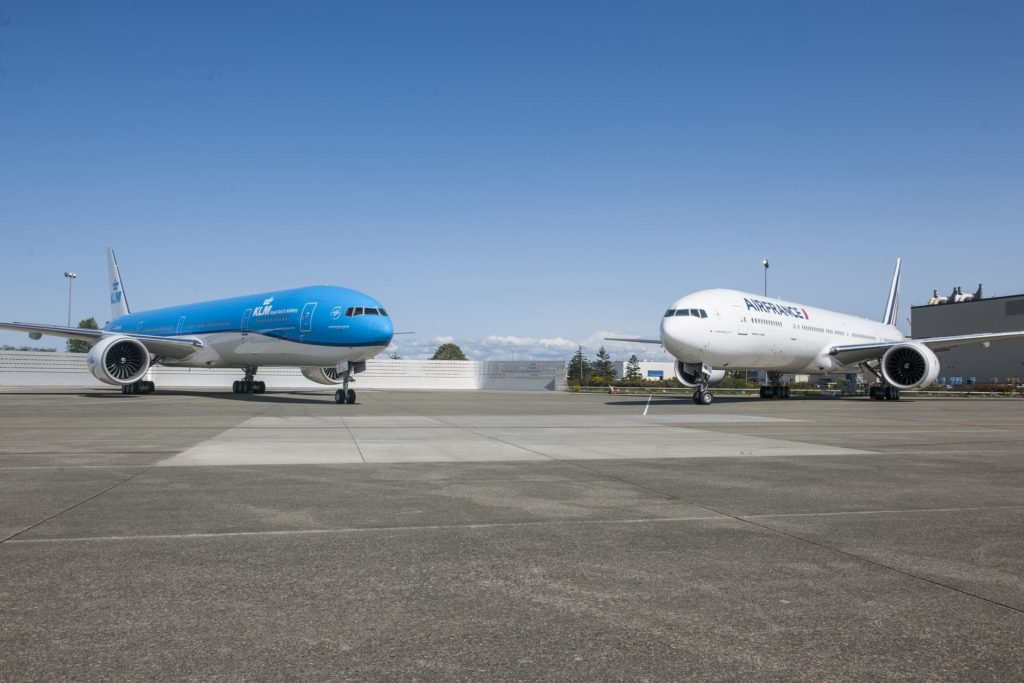 Boeing 777 KLM et Air France