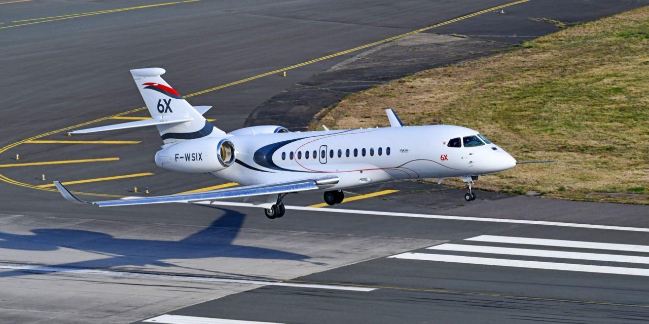 1er atterrissage du Falcon 6X (Bordeaux)