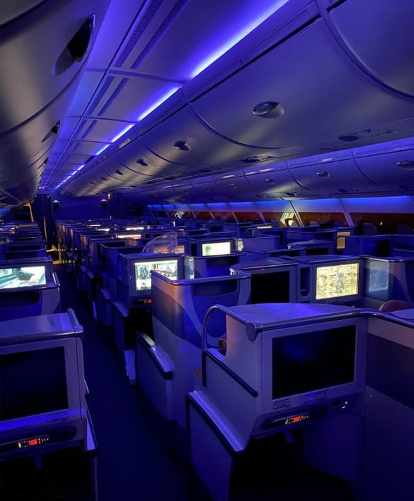 Cabine Business A380 Emirates