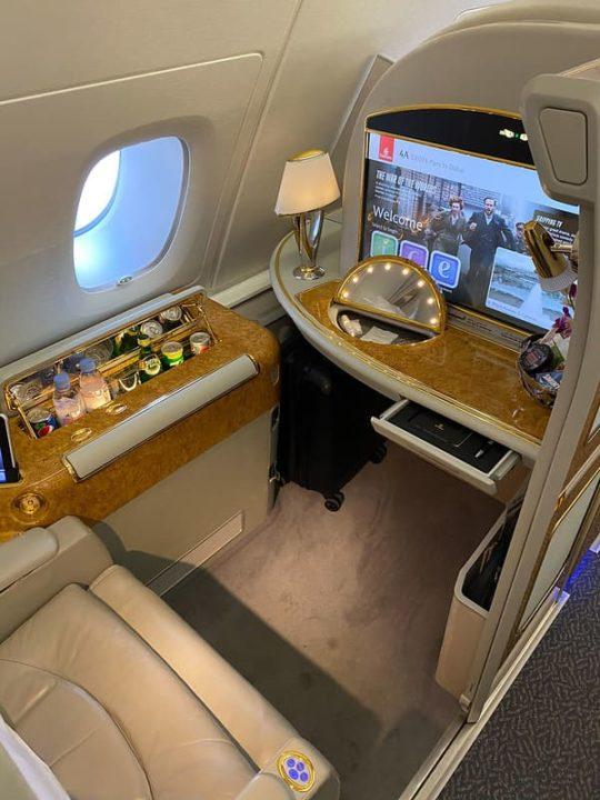 Première Classe A380 Emirates
