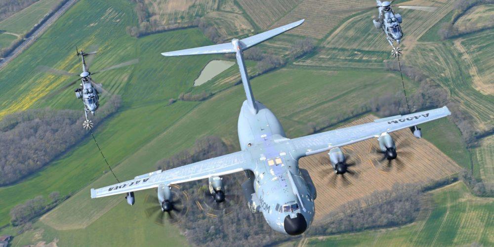 A400M et deux H225M Caracal Armée de l'air et de l'espace