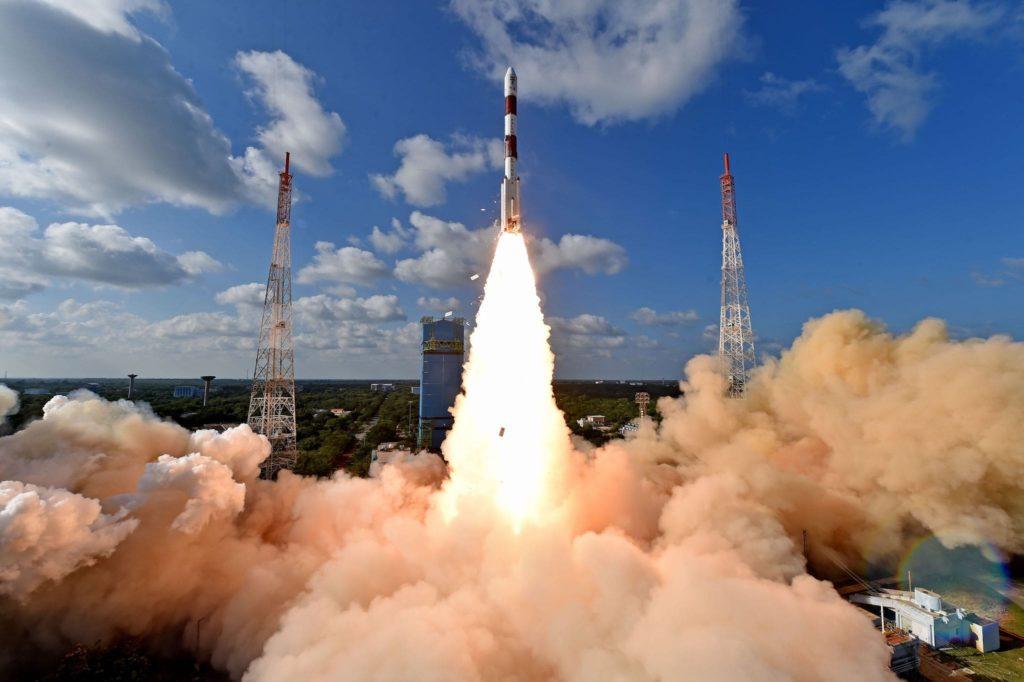 Décollage de la fusée indienne PSLV