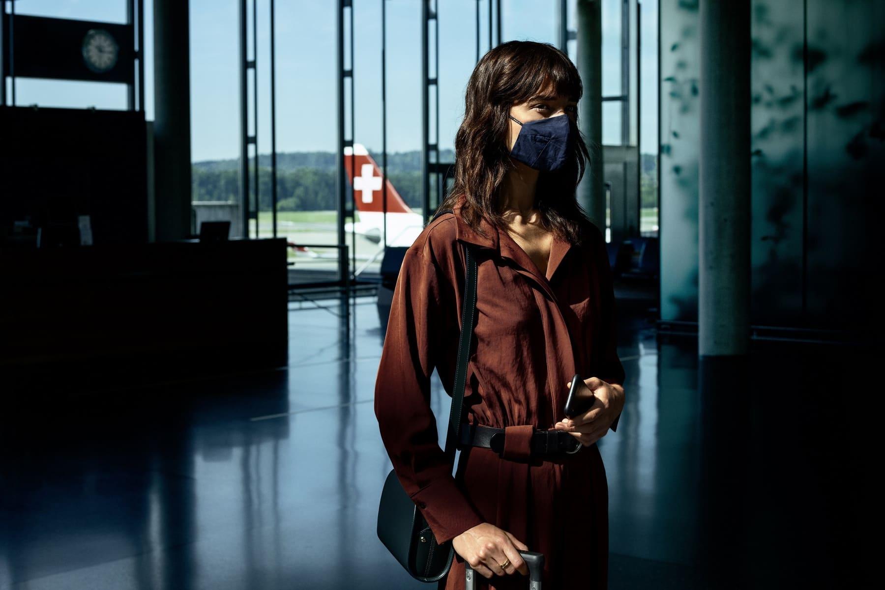 Passager Swiss avec masque