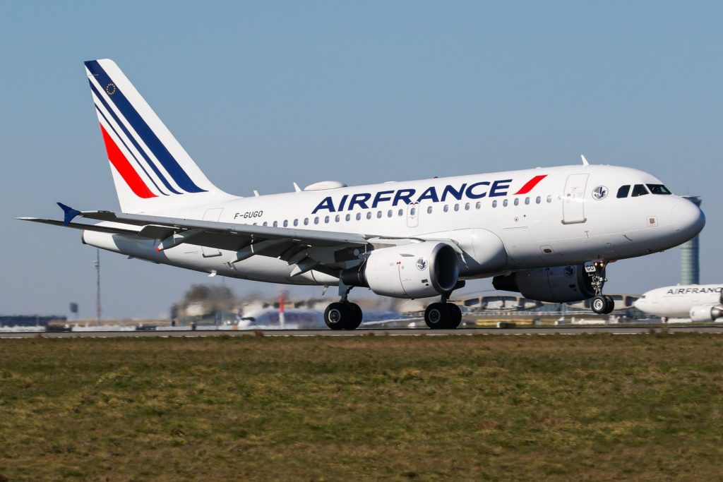 Air France A318 F-GUGO au départ de CDG21