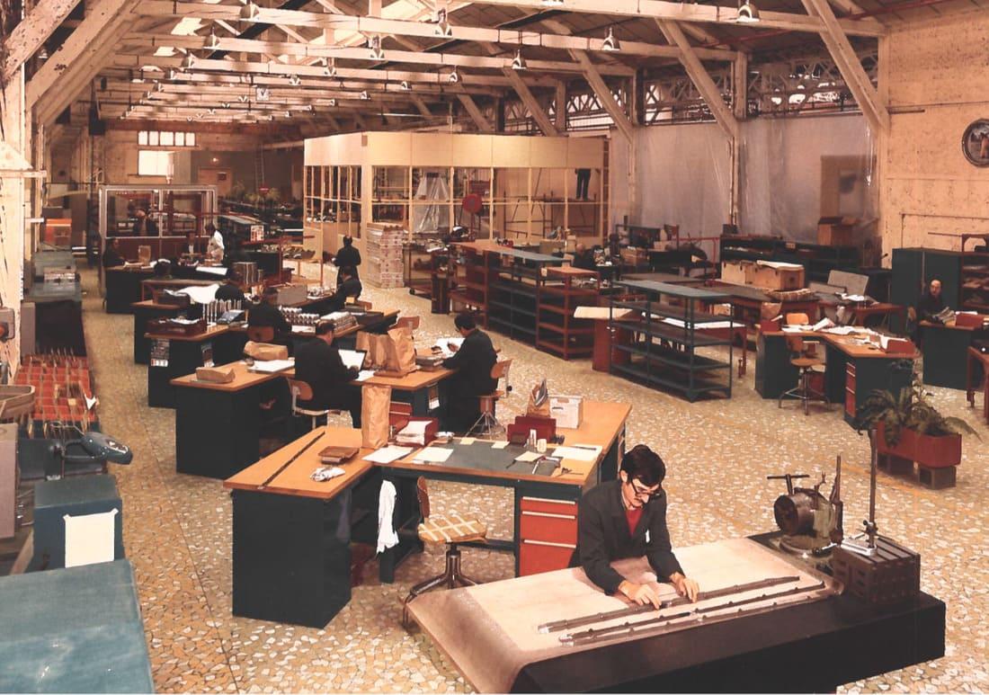 Bureau d'études en 1980