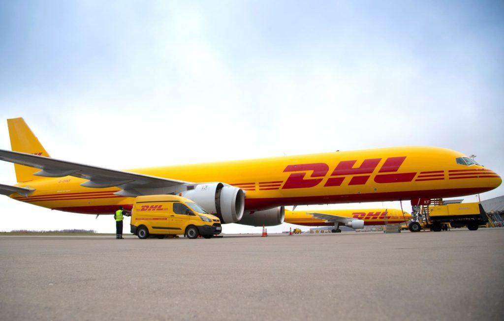 Boeing B757 DHL à East Midlands