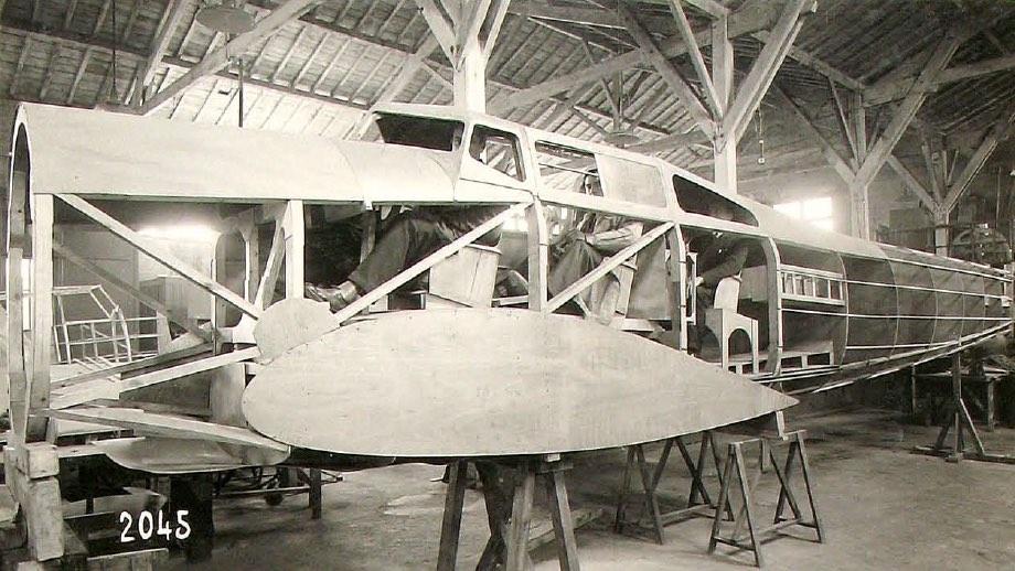 Maquette d'avion à l'échelle 1 en 1921