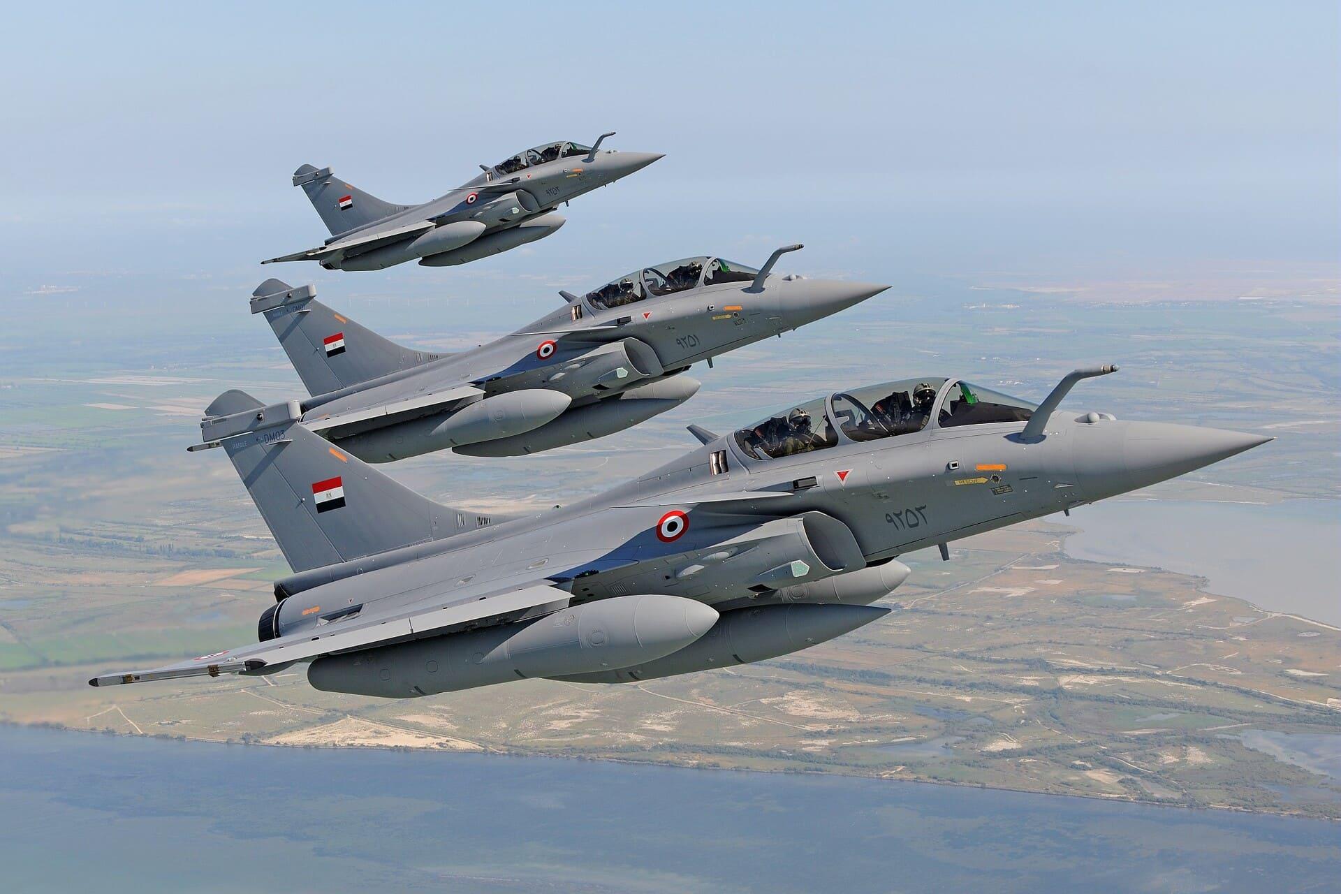 Trois Rafale égyptiens en formation