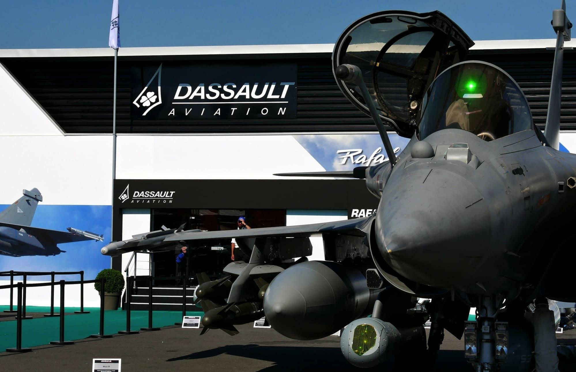 Rafale sur le stand Dassault au Bourget