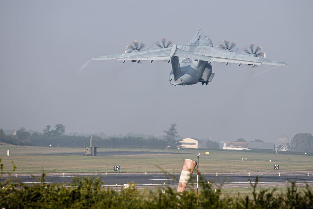 A400M au décollage