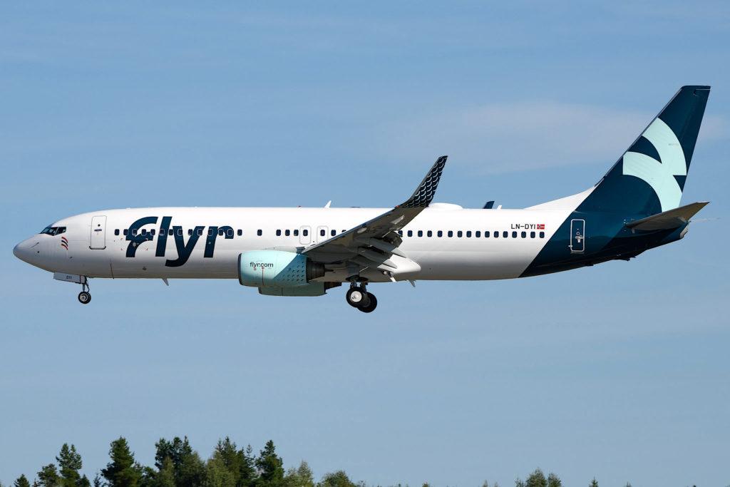 Flyr Boeing 737-800 NG / LN-DYI